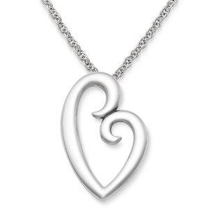 James Avery / Sterling Silver Love Heart Necklace